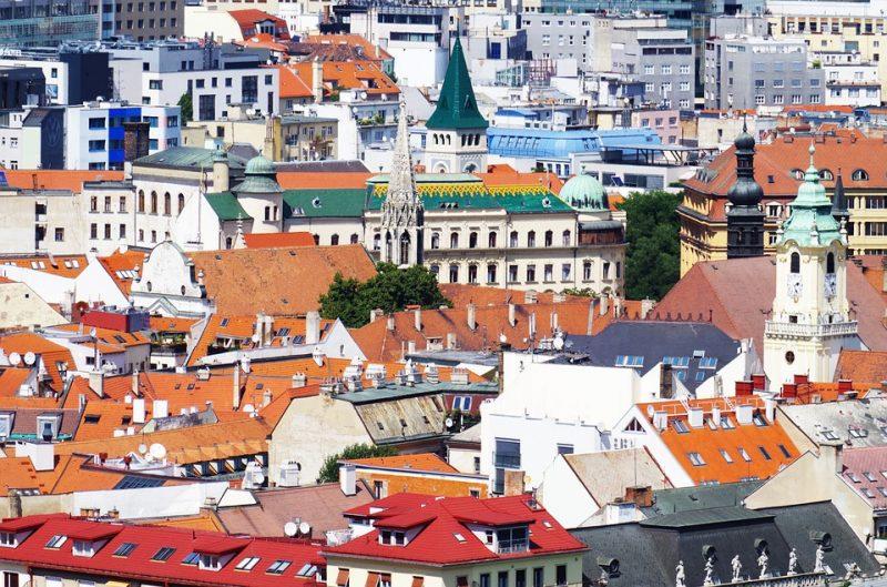 братислава город дома крыши