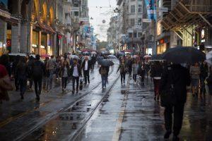 город улица люди
