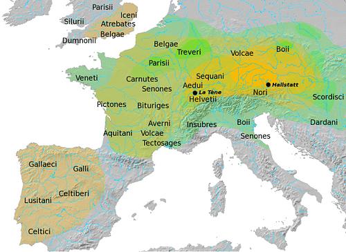 кельты-европа-карта