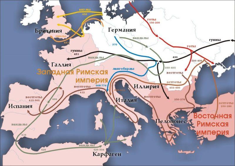 великое-переселение-народов-карта